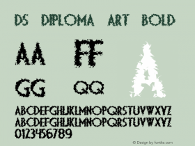 DS Diploma Art Bold Version 1.2; 2000 Font Sample