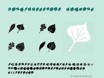 LeafAssortment Regular Macromedia Fontographer 4.1 3/09/00 Font Sample