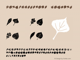 LeafAssortment Regular Macromedia Fontographer 4.1 4/30/03 Font Sample