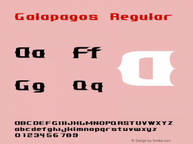 Galapagos Regular 001.000 Font Sample
