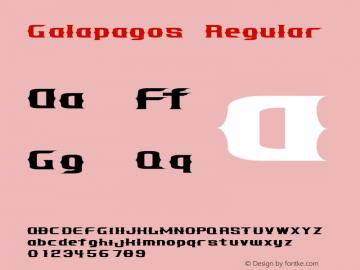 Galapagos Regular 001.000 Font Sample