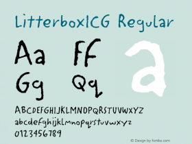 LitterboxICG Regular 001.000 Font Sample