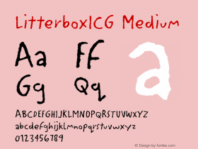 LitterboxICG Medium 001.000 Font Sample