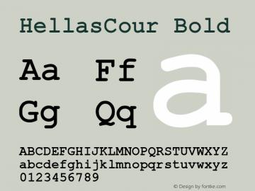 HellasCour Bold Altsys Fontographer 3.5  11-06-92 Font Sample
