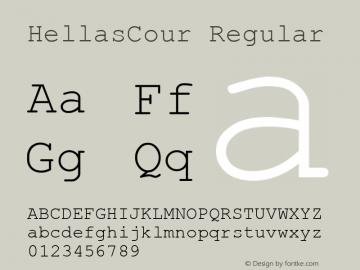 HellasCour Regular Altsys Fontographer 3.5  11-06-92 Font Sample