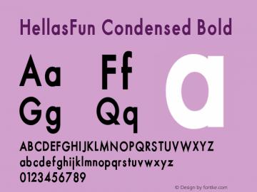 HellasFun Condensed Bold 001.000 Font Sample