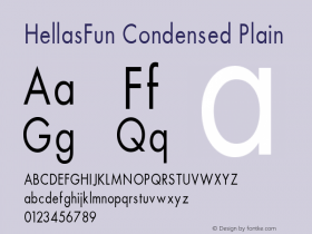 HellasFun Condensed Plain 001.000 Font Sample