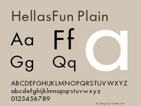 HellasFun Plain 001.000 Font Sample