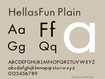 HellasFun Plain 001.000 Font Sample