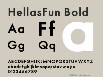 HellasFun Bold 001.000 Font Sample