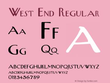 West End Regular Altsys Fontographer 3.5  4/11/92 Font Sample