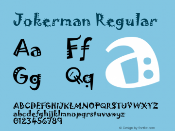 Jokerman Regular Version 1.05 Font Sample