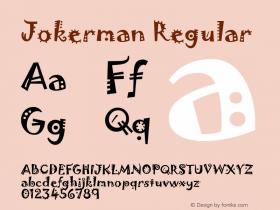 Jokerman Regular Version 1.05 Font Sample