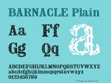 BARNACLE Plain BARNACLE Font Sample