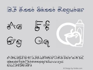 DJ Kool Skool Regular Altsys Fontographer 4.1 5/21/96 Font Sample