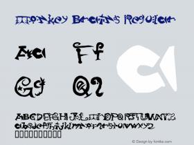 Monkey Brains Regular Macromedia Fontographer 4.1 3/10/98 Font Sample
