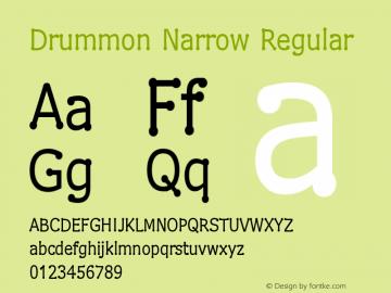 Drummon Narrow Regular 1.03 Font Sample