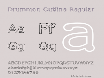 Drummon Outline Regular 1.03 Font Sample