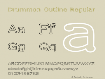 Drummon Outline Regular 1.03 Font Sample