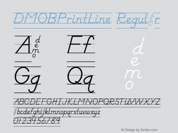 DMOBPrintLine Regular Macromedia Fontographer 4.1.3 1/24/00 Font Sample