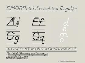 DMOBPrintArrowLine Regular Macromedia Fontographer 4.1.3 1/24/00 Font Sample