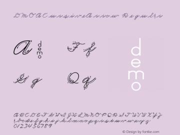 DMOACursiveArrow Regular Macromedia Fontographer 4.1.3 1/21/00 Font Sample