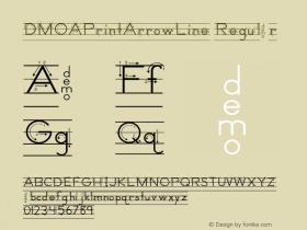DMOAPrintArrowLine Regular Macromedia Fontographer 4.1.3 1/21/00 Font Sample