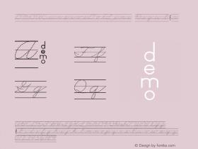 DMOACursiveDotLine Regular Macromedia Fontographer 4.1.3 1/21/00 Font Sample