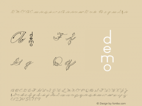 DMOACursiveArrowDot Regular Macromedia Fontographer 4.1.3 1/21/00图片样张