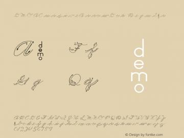DMOACursiveArrowDot Regular Macromedia Fontographer 4.1.3 1/21/00 Font Sample