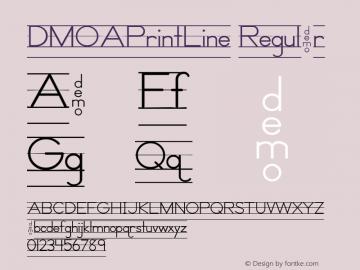 DMOAPrintLine Regular Macromedia Fontographer 4.1.3 1/21/00 Font Sample
