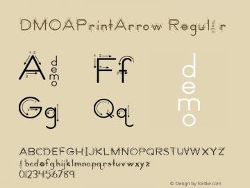 DMOAPrintArrow Regular Macromedia Fontographer 4.1.3 1/21/00 Font Sample