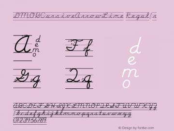 DMOBCursiveArrowLine Regular Macromedia Fontographer 4.1.3 1/24/00 Font Sample