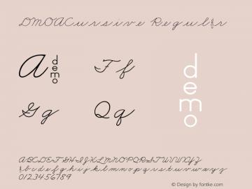 DMOACursive Regular Macromedia Fontographer 4.1.3 1/21/00 Font Sample