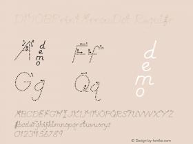DMOBPrintArrowDot Regular Macromedia Fontographer 4.1.3 1/24/00 Font Sample