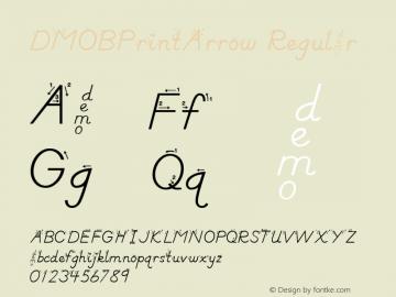DMOBPrintArrow Regular Macromedia Fontographer 4.1.3 1/24/00 Font Sample