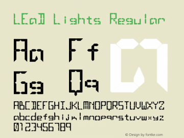 LEaD Lights Regular Macromedia Fontographer 4.1.3 3/10/1997 Font Sample