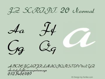 FZ SCRIPT 20 Normal 1.000 Font Sample