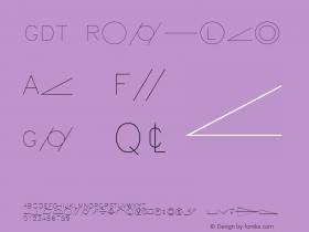 GDT Regular AutoDesk, Inc., 2.0.0 3/10/97 Font Sample