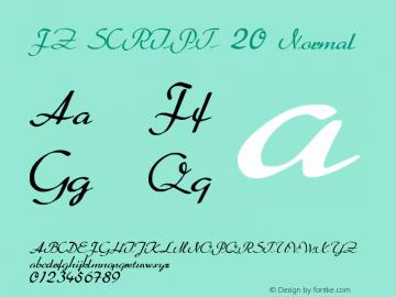 FZ SCRIPT 20 Normal 1.0 Fri Apr 22 00:21:43 1994 Font Sample