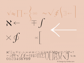 Symath Regular AutoDesk, Inc., 2.0.0 3/10/97 Font Sample