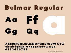 Belmar Regular Converted from e:\aff07\Belmar.FF1 by ALLTYPE Font Sample
