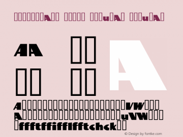 BottleKaps Profi Regular Regular Altsys Fontographer 4.1 10.3.1995 Font Sample