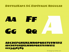 BottleKaps SC ExpItalic Regular Altsys Fontographer 4.1 10.3.1995 Font Sample