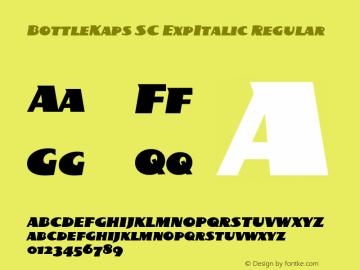 BottleKaps SC ExpItalic Regular Altsys Fontographer 4.1 10.3.1995图片样张