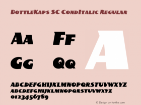 BottleKaps SC CondItalic Regular Altsys Fontographer 4.1 10.3.1995 Font Sample