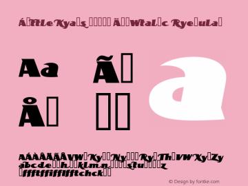 BottleKaps Profi ExpItalic Regular Altsys Fontographer 4.1 10.3.1995 Font Sample