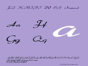 FZ SCRIPT 20 EX Normal 1.0 Fri Apr 22 00:27:51 1994 Font Sample