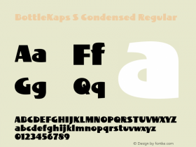 BottleKaps S Condensed Regular Altsys Fontographer 4.1 10.3.1995 Font Sample
