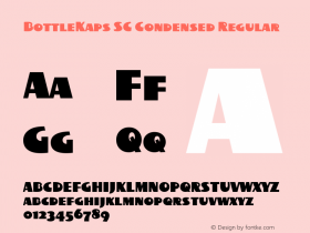 BottleKaps SC Condensed Regular Altsys Fontographer 4.1 10.3.1995 Font Sample